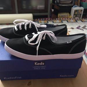 Brand new in box Black Champion canvas Keds